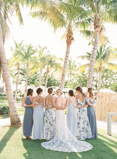 Blue and white floral bridesmaid dresses | Demutiis Photography Bridesmaid Proposal, Bridesmaid Gifts, Bridesmaids, Floral Bridesmaid Dresses, Wedding Dresses, The Girl Who, Bridal Style, Blue And White, Style Inspiration