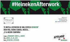 #AfterworkHeineken #Jueves12 #Madrid #Castellana #Heineken #ElRecuerdo #Afterwork #jueves Madrid, Boarding Pass, Musica, Thursday