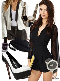 Date night inspiration. Black and white trend.