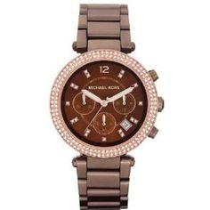 -Michael Kors Mid Size Espresso Parker Brown Watch MK5578