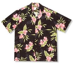 Handsome island shirt made from soft poplin rayon in fun tropical Hawaiian prints. Look good, feel comfortable with this attention given shirt. Made with coconut shell buttons and matching chest pocket.