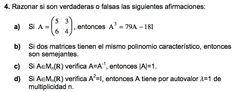 Ejercicio 4 del Examen de Matemática 2 (ADE, ULL). 8 Enero 2004. Tema: Matrices