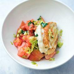 Insalata di pomodori con crostone