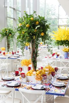 Lemon Inspired Wedding At Royal Conservatory Of Music | Tablescape | Toronto Rachel A. Clingen Wedding & Event Design