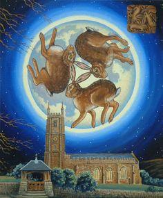 Eleanor Ludgate, The Three Hares of South Tawton Bunny Art, Cute Bunny, Rabbit Art, Rabbit Hole, Devon, Some Bunny Loves You, Angora Rabbit, Color Magic, Ancient Symbols
