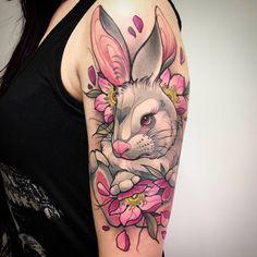 Ideas Tattoo Geometric Chest Peter Otoole For Text Tattoo, Form Tattoo, Tattoo Fonts, Bunny Tattoos, Rabbit Tattoos, Animal Tattoos, White Rabbit Tattoo, Music Tattoos, Body Art Tattoos