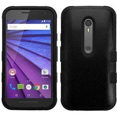 MYBAT TUFF Hybrid Motorola Moto G 3rd Gen Case - Black/Black