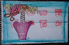 La carte que j'ai réalisé avec mon tampon pour le présenter sur le blog de la boutique Infiniment Scrap  http://www.infinimentscrapdesign.com/