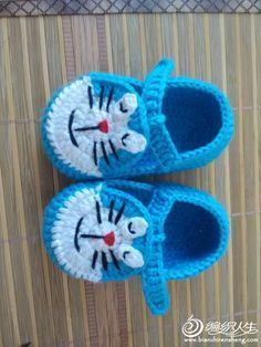 Baby Häkelanleitung Crochetar - / Little Baby Crocheting Default Schuh . Crochet Baby Boots, Crochet Baby Sandals, Knit Baby Booties, Booties Crochet, Crochet Shoes, Crochet Slippers, Love Crochet, Baby Knitting Patterns, Crochet Patterns