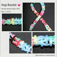 Hugs Bracelet. Visit Facebook Luvinlooms Fancy Bracelets and Accessories Or Luvinlooms@gmail.com to purchase!