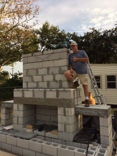 how to build an outdoor fireplace with cinder blocks ... on Outdoor Fireplace With Cinder Blocks id=58874