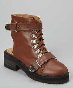 Another great find on #zulily! Tan Bracen Leather Boot by N.Y.L.A. Shoes #zulilyfinds