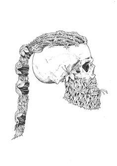 Pin von luke mcdade auf npc pinterest wikinger for Ragnar head tattoo stencil