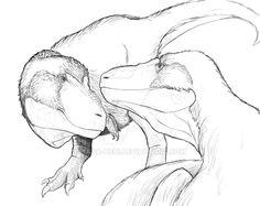 Romancing Tyrannosaurus by https://kana-hebi.deviantart.com on @DeviantArt