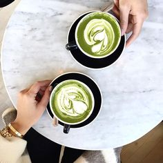 Tea vs. Coffee. The choice is yours! PS- matcha is packed with nutritional perks and a sustained energy boost! #matcha #health #coffee
