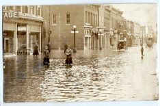 1913 Rushville, Indiana flood, Main Stree, stores, Real photo postcard RPPC  | eBay