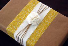 Simple Brown Wrap with elegant detail