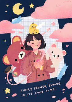 Art And Illustration, Character Illustration, Animes Wallpapers, Cute Wallpapers, Korean Art, Hippie Art, Kawaii Art, Aesthetic Art, Manga Art