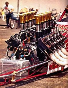 Amazing that no one has come up with a better design for drag racing than the hemi since the Hemi Engine, Motor Engine, Car Engine, Ford Mustang, Performance Engines, Performance Parts, Race Engines, Vintage Race Car, Drag Cars