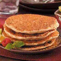 High-Octane Pancakes Recipe - Replace the oil with pumpkin puree and the sugar with truvia
