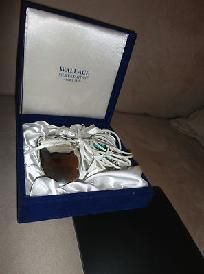 Mark Wallace Silversmiths Silver Mouse with pad & box MUO6P. For this and more visit me at www.dandeepop.com