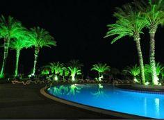 Pool Area by night @ Rodos Princess Beach Hotel
