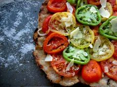 Grilled Heirloom Tomato Flatbread