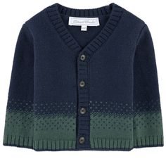 V-necked wool blend cardigan