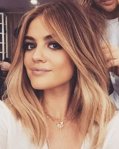 Click through to see all of Lucy Hale's hair colors - blonde balayage
