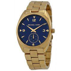 Unidentified charming watch --> Michael Kors Women Watch CALLIE GOLD Bracelet & Blue Dial Swarovski MK3345 #MichaelKors #Dress #Fashion #Professional $149.77