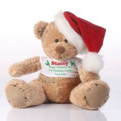 This adorable Personalised Christmas Patch Bear makes a loving gift idea for someone special.