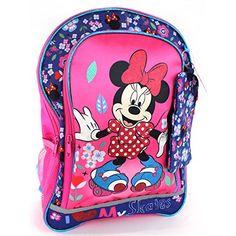 "Minnie Mouse 16 inch Backpack (Pink ""Skates"") Disney http://www.amazon.com/dp/B00M1THIMG/ref=cm_sw_r_pi_dp_Aua3tb146T4CZ7HC"