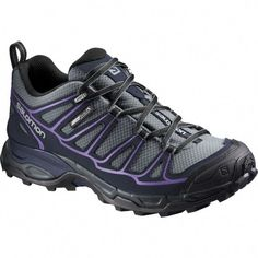 d5e8db05f673 Salomon Women's X Ultra Prime CS WP Hiking Shoes (Pearl Grey/Deep Blue/Rain  Purple, Size - Women's Outdoor Shoes at Academy Sports