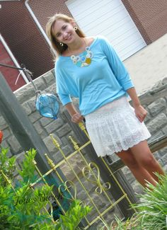 Fun and flirty! What's not to love about this white lace skirt!