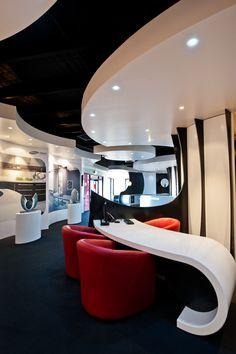 Wave Showroom. Winner 2011 National Staron Awards [Aust]. Design by Peter Carman Dakota Design