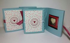 Little books of love complete with a Ghirardelli chocolate square -- by Jeanie Tavitas-Williams. Valentine Heart, Valentines, Valentine Cards, Ghirardelli Chocolate Squares, Heart Crafts, 3d Projects, Punch Art, Little Books, Have Some Fun