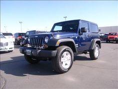 2013 Jeep Wrangler Sport SPORT SUV 2 Doors True Blue Pearl for sale
