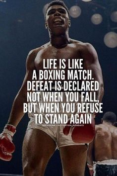 Inspirational quote to give you motivation for your next boxing training session! Wisdom Quotes, Me Quotes, Motivational Quotes, Life Is Like Quotes, Sports Inspirational Quotes, Trust Quotes, Famous Quotes, Strong Quotes, Positive Quotes