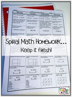 This blog post talks about why I LOVE using spiral math homework.  Keep the standards fresh!