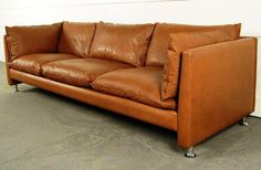 Modern Leather Sofa Vintage Mid Century Couch Unique Antique And Sofas Sectional Small Sleeper - Physac Mid Century Couch, Mid Century Modern Sofa, Mid Century Modern Furniture, Vintage Sofa, Sofa Design, Swedish Home Decor, Danish Sofa, Modern Leather Sofa, Modern Couch