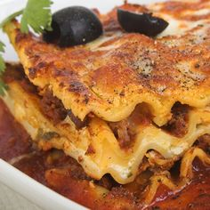 This simple lasagna recipe has a nice variety of flavors and would go very well with a fresh green salad.. Simple Lasagna Recipe from Grandmothers Kitchen.