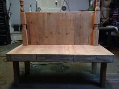 Rustic wooden bench on Etsy, $185.00