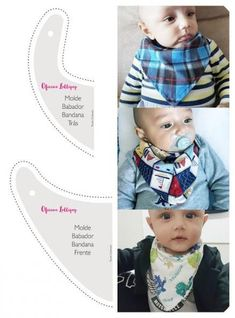 Diy Baby Gifts, Baby Crafts, Baby Sewing Projects, Sewing For Kids, Bandana Bib Pattern, Baby Bibs Patterns, Baby Kit, Baby Burp Cloths, Sew Ins