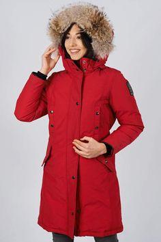 Women's winter down coat, 725 fill power. Arctic Bay - Made in Canada. Do It Yourself Wedding, Winter Jackets Women, Down Coat, Rain Jacket, Charlotte, Windbreaker, Arctic