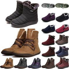 Damen Stiefel Stiefeletten Schlupfstiefel Winter Warm Boots Schuhe Retro Outwear