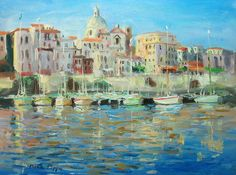 Well Listed Impressionist Original Oil Painting Malta Signed COA Pasini Interest #Impressionism