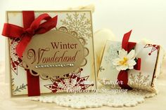 Inspired by stamping, Joanna Munster, Winter Wonderland stamp set, Christmas Box, snowflake box, Christmas card, box set