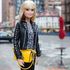 """Walking around New York's Meatpacking District today, what are you up to? #barbie #barbiestyle"""