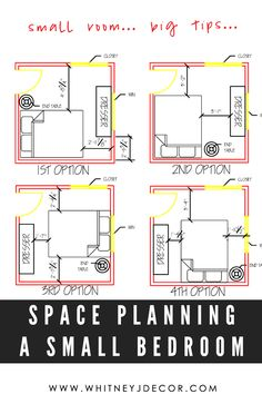 Space planning tips and tricks for a small space bedrooms. Read these tips before you start your next decorating project.