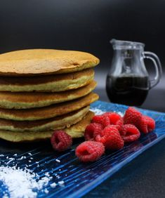 The Best Fluffy Vegan Coconut Pancakes - Bunny Mommy Cooks Coconut Pancakes, Pancakes Easy, Vegan Pancakes, Fluffy Vegan Pancake Recipe, Vegan Pancake Recipes, Chocolate Chip Pancakes, Milk And Eggs, Different Recipes, Baked Goods